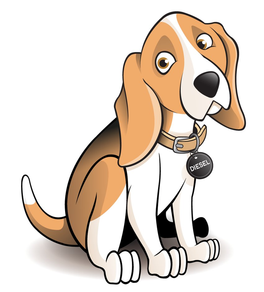 Beagle clipart lost dog. Cartoon by timmcfarlin on