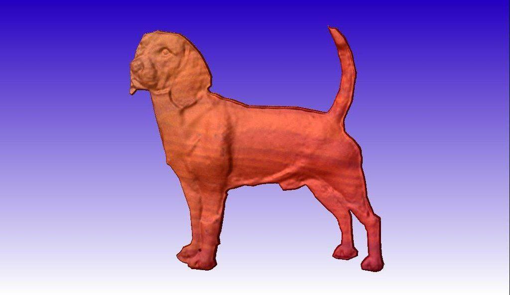Beagle clipart medium. Cnc relief model d