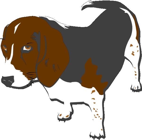 Grey clip art at. Beagle clipart medium