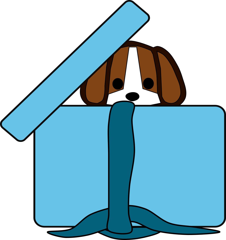 In a box design. Beagle clipart medium