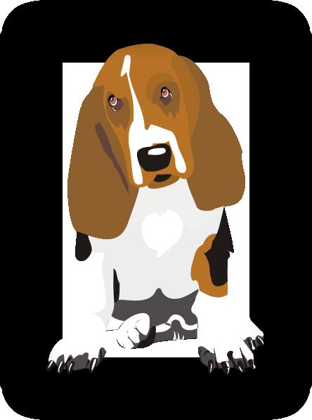 Beagle clipart medium. Sitting clip art at