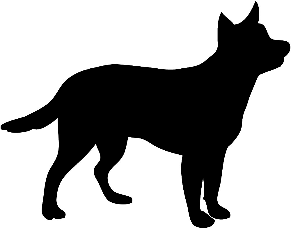 Pet clipart silhouette. Beagle dog at getdrawings