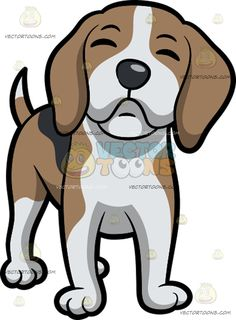 Puppy sitting and looking. Beagle clipart one dog
