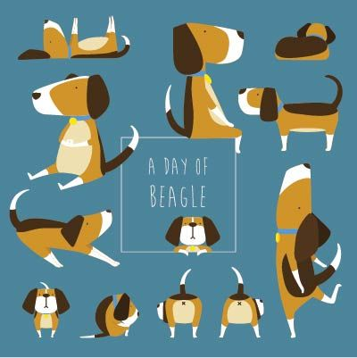 Beagle clipart one dog.  best accessories treats