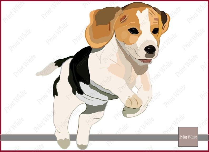 Clip art sublimation design. Beagle clipart one dog
