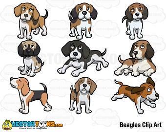 Clip art etsy . Beagle clipart playful puppy