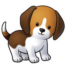 Beagle clipart playful puppy. Cute cartoon dogs clip