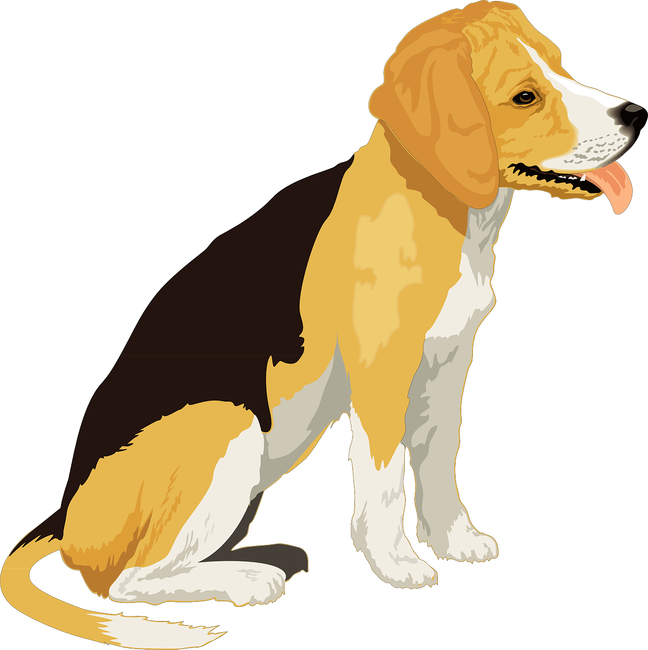 Beagle clipart playful puppy. Black yellow dog pet