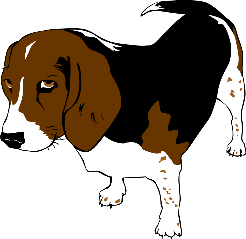 Beagle clipart public domain. Clip art image copper
