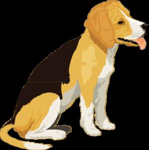 Beagle clipart public domain. Yellow and black clip