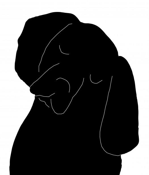 Beagle clipart public domain. Dog silhouette free stock