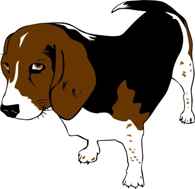 Beagle clipart pup. Free vector download for