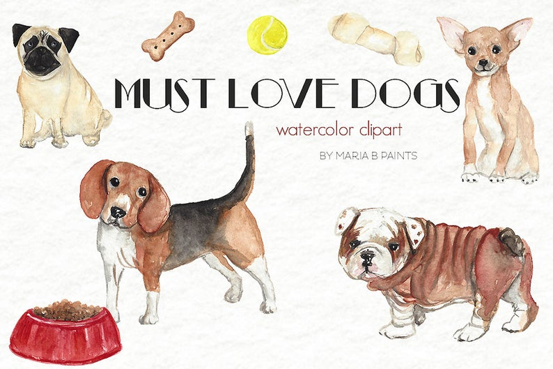 Dog watercolor puppy clip. Beagle clipart puppie