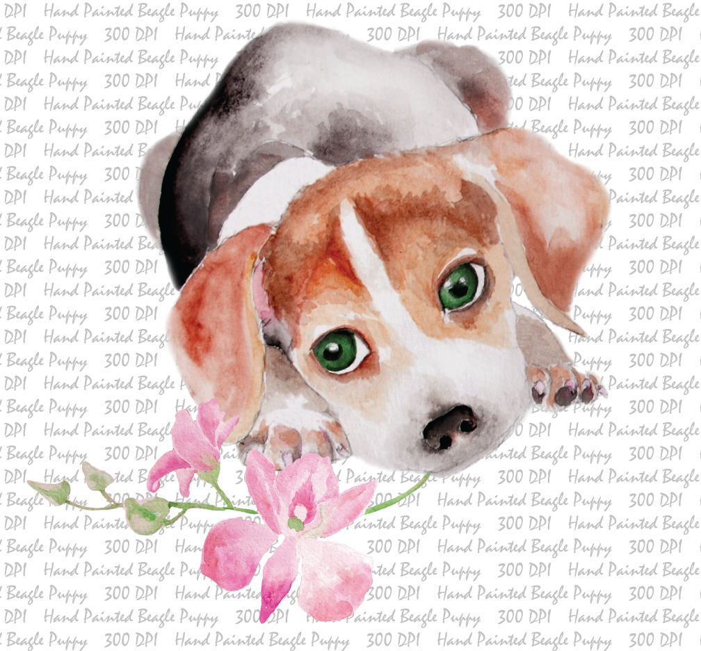 Beagle clipart puppyclip. Hand painted watercolor dog