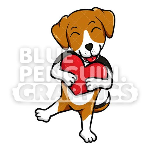 Beagle clipart puupy. Dog holds a red