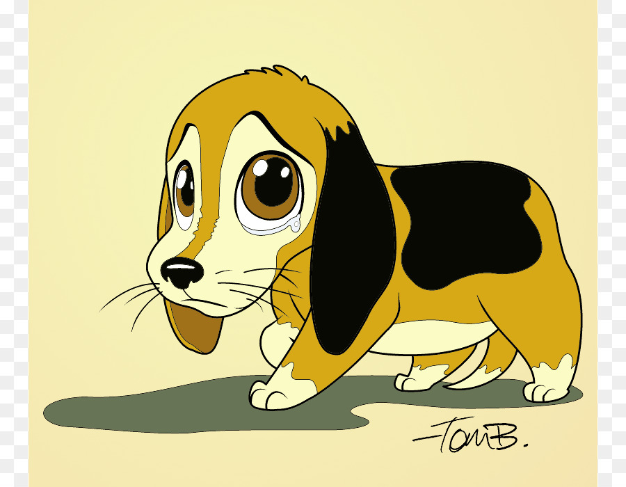Puppy cartoon drawing clip. Beagle clipart sad dog
