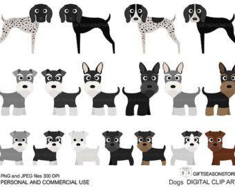 Puppies digital clip art. Beagle clipart schnauzer