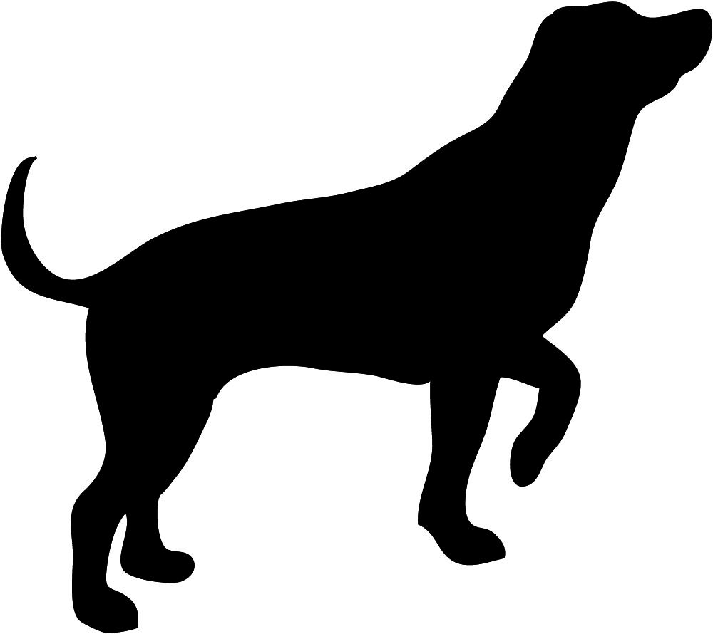 Silhouette decoupage and crafting. Beagle clipart service dog