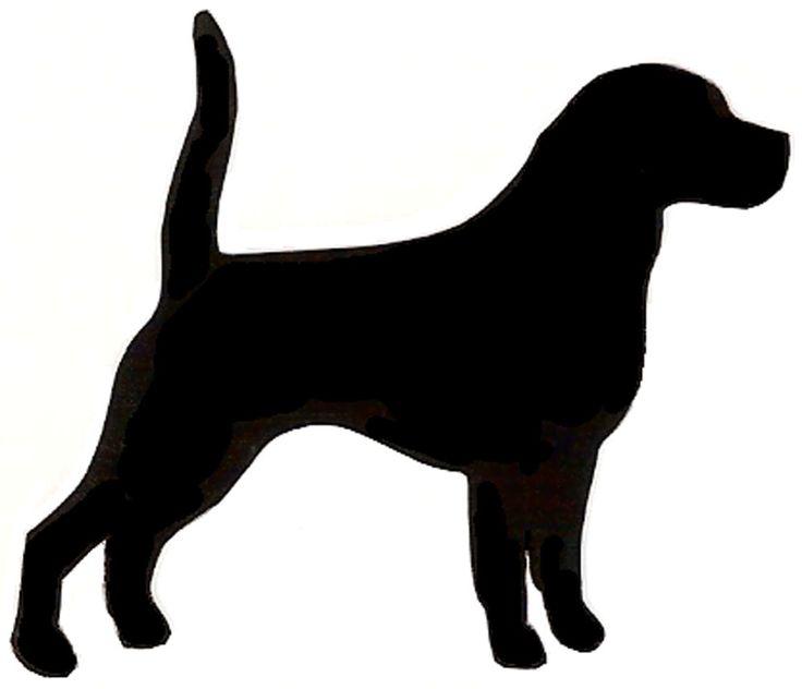 Cat silhouette clip art. Beagle clipart service dog