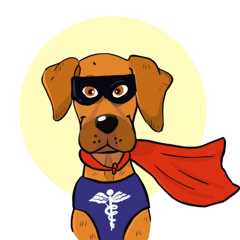 Beagle clipart service dog. Cartoon love illustration pet