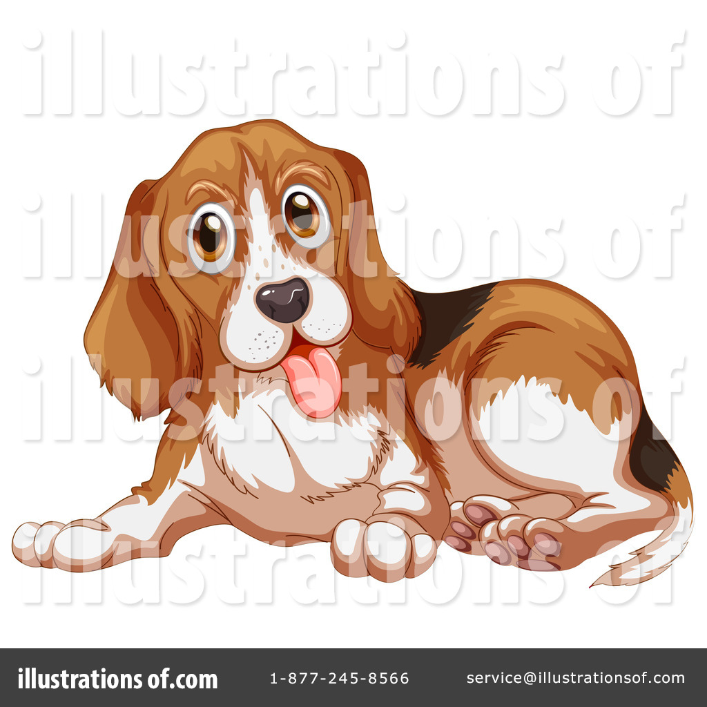 Illustration by graphics rf. Beagle clipart service dog