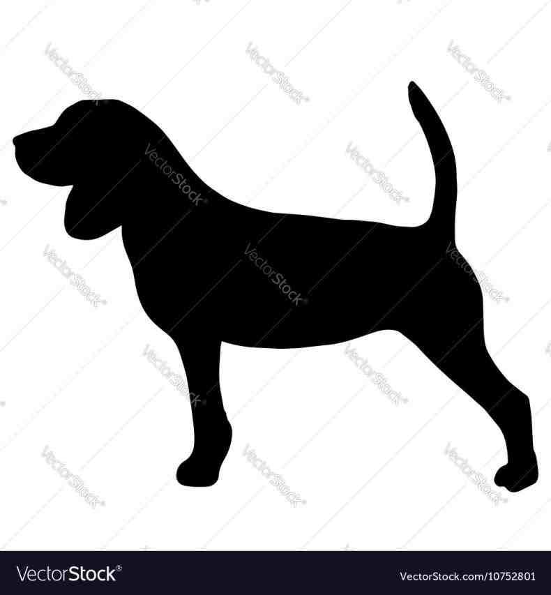 Leash hook holder u. Beagle clipart silhouette