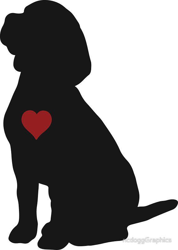 Redbubble stickers pinterest. Beagle clipart silhouette