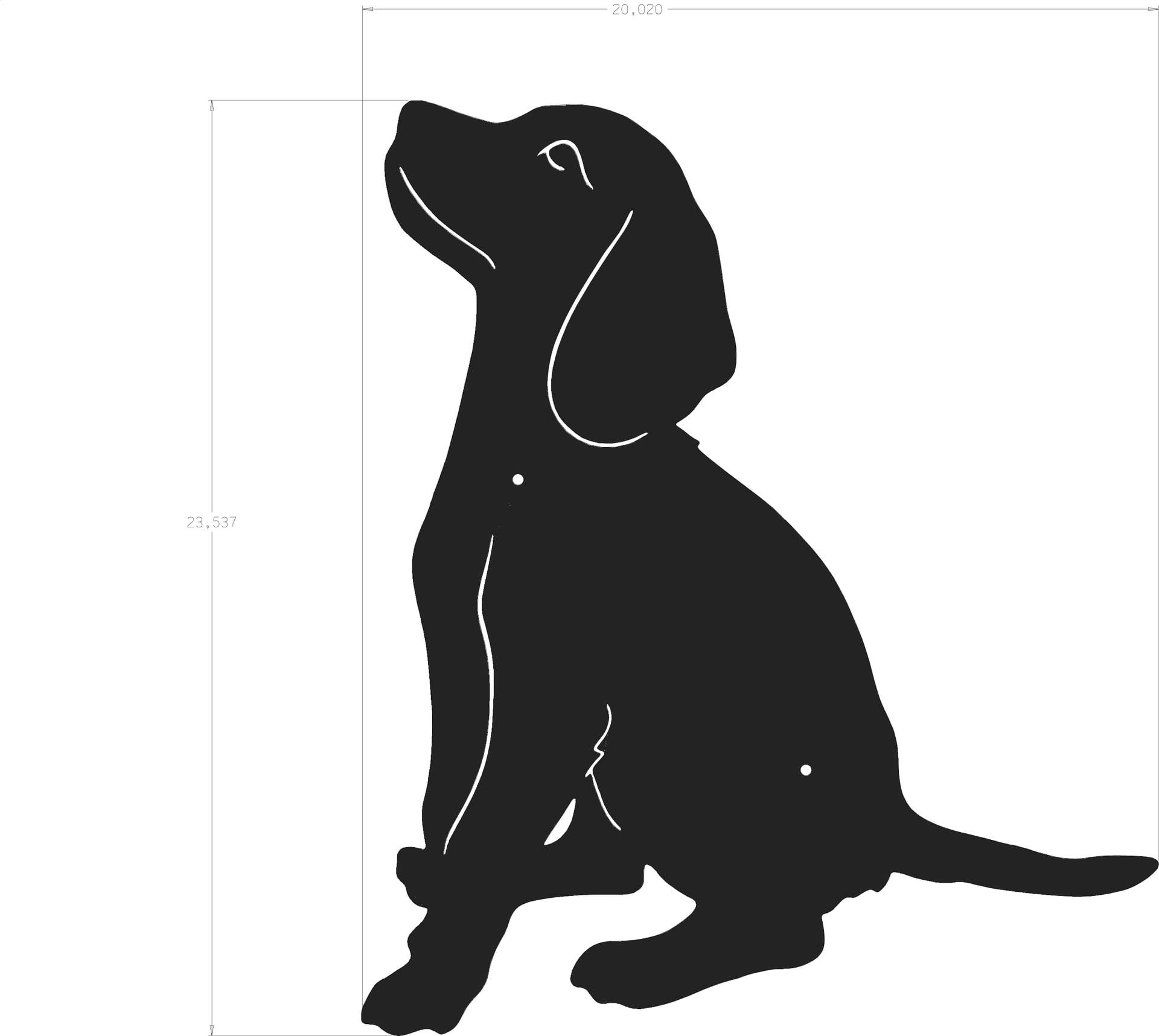 Beagle clipart silhouette. Dog