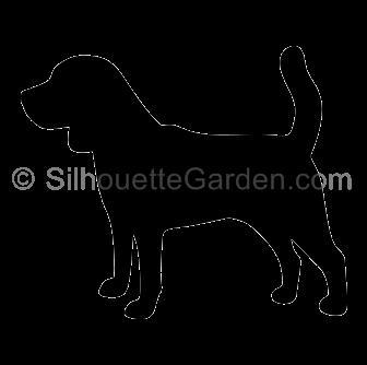 Clip art download free. Beagle clipart silhouette
