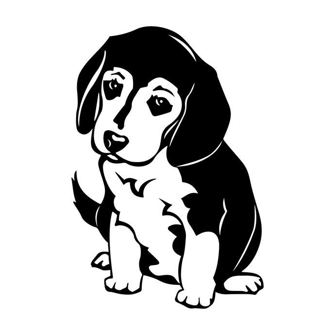 Dog graphics design dxf. Beagle clipart svg