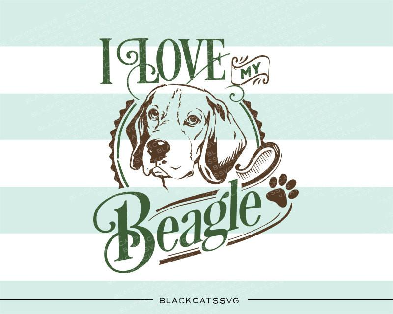 Beagle clipart svg. I love my file