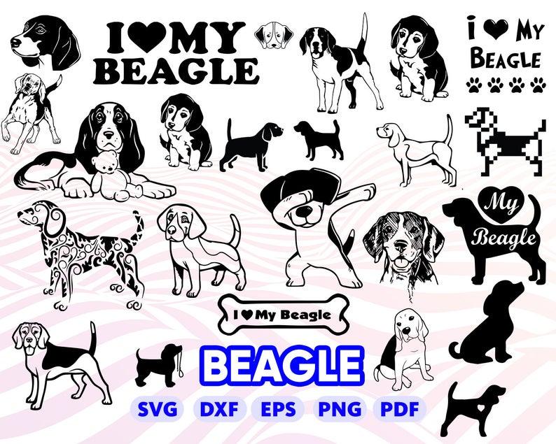 Beagle clipart svg. Dog i love bigl