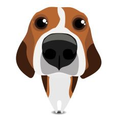 Pin on paw art. Beagle clipart vector