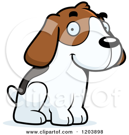 Clipground preview. Beagle clipart vector