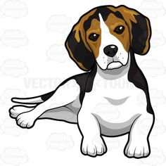 Beagle clipart worried. Another drawing love pinterest