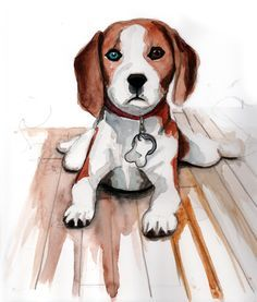 Beagle clipart worried. Drawing of a beagles