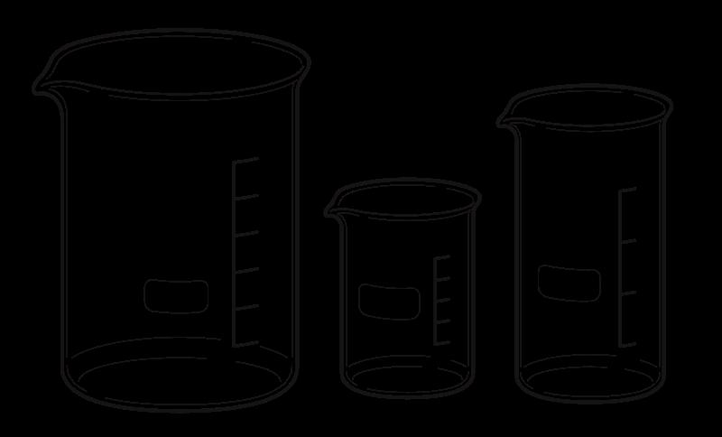 Beaker clipart 1 liter. Black and white station