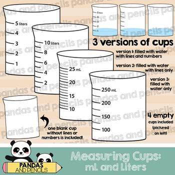 Beaker clipart 1 liter. Measuring cups beakers in