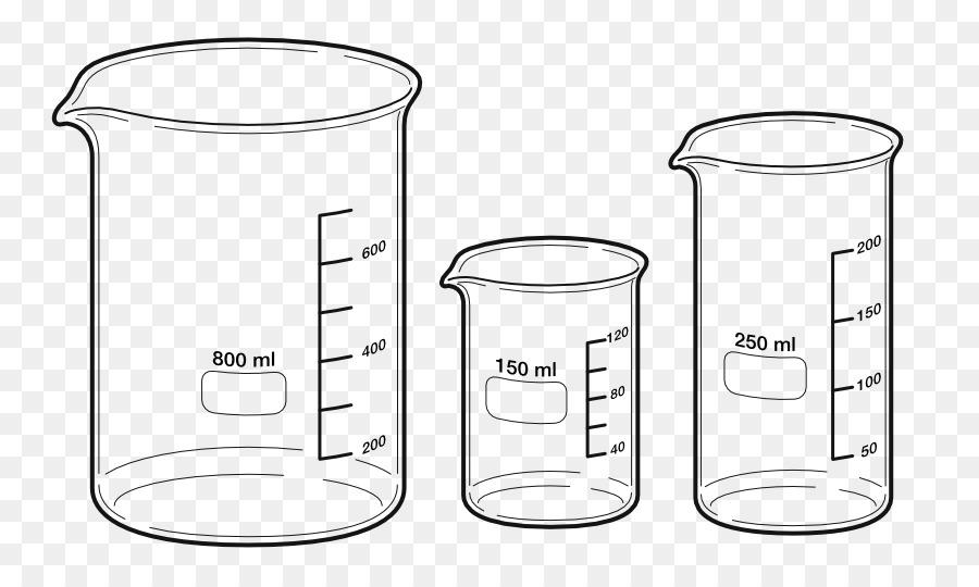Cartoon chemistry product . Beaker clipart 100 ml