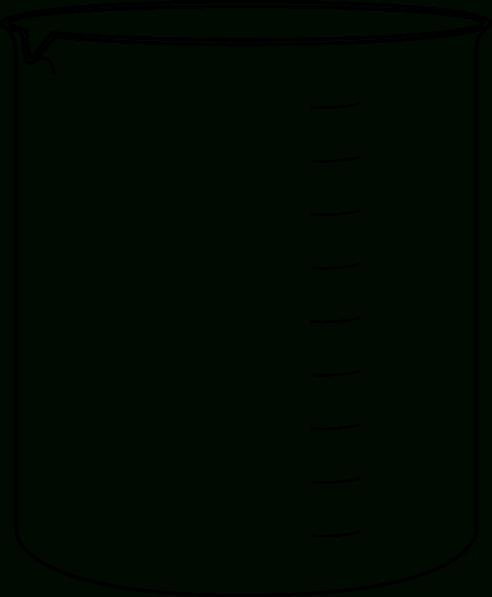 Black and white letters. Beaker clipart 100 ml