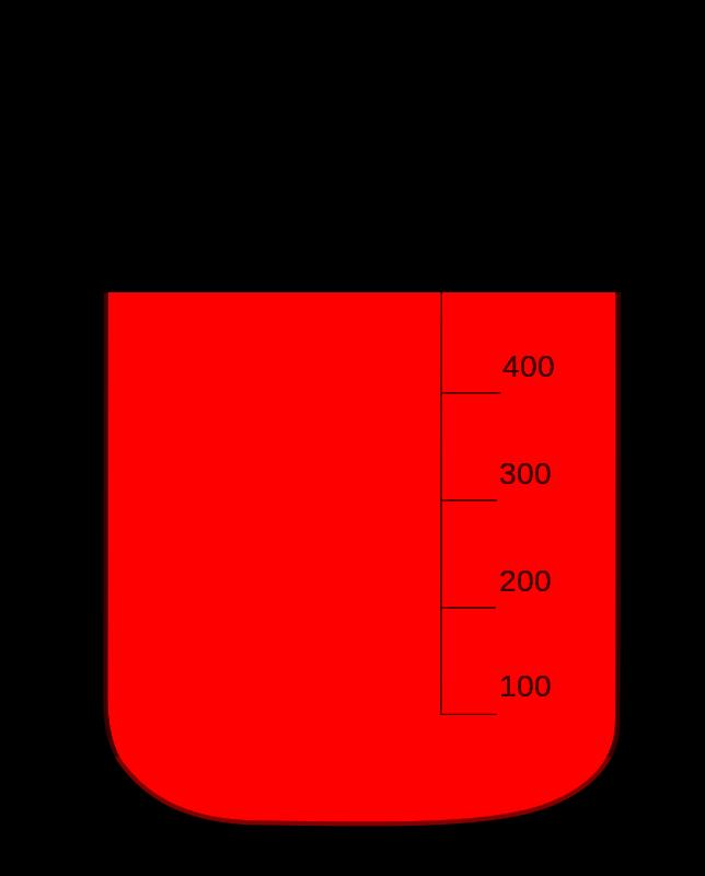 File becherglas verduennung svg. Beaker clipart 100 ml