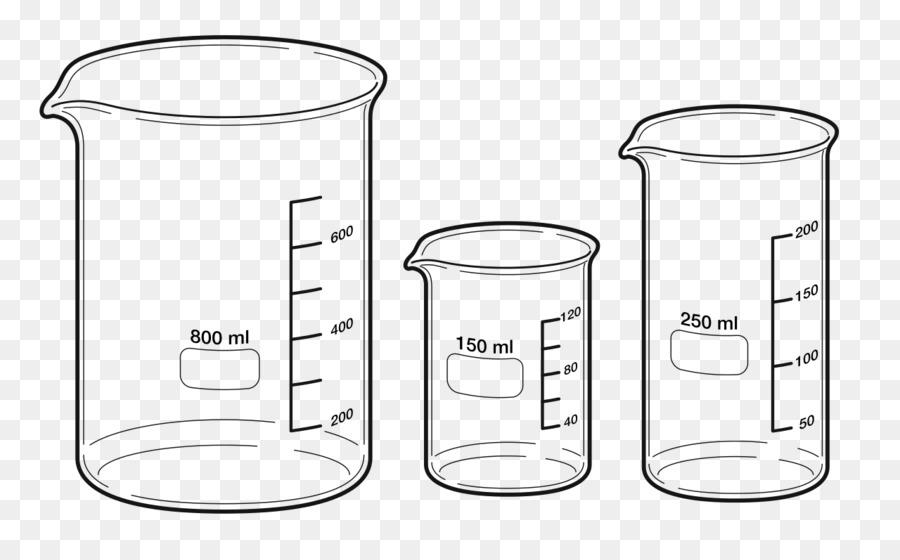 Cartoon cup glass transparent. Beaker clipart 250 ml