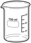 Beaker clipart 250 ml. Science chemistry public domain