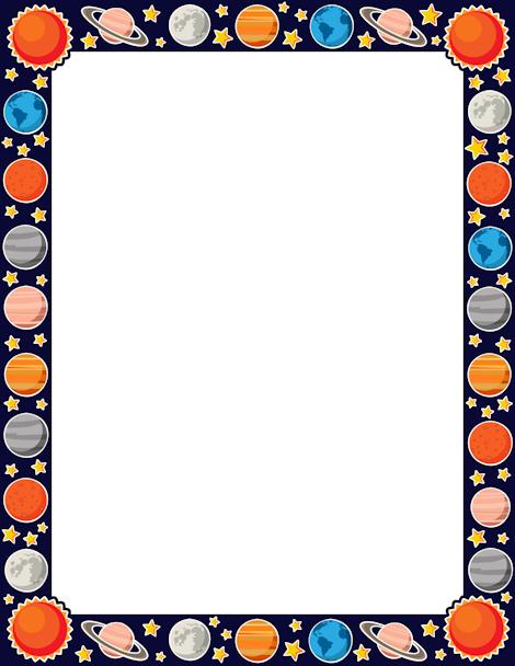 Beaker clipart banner. Printable planet border free
