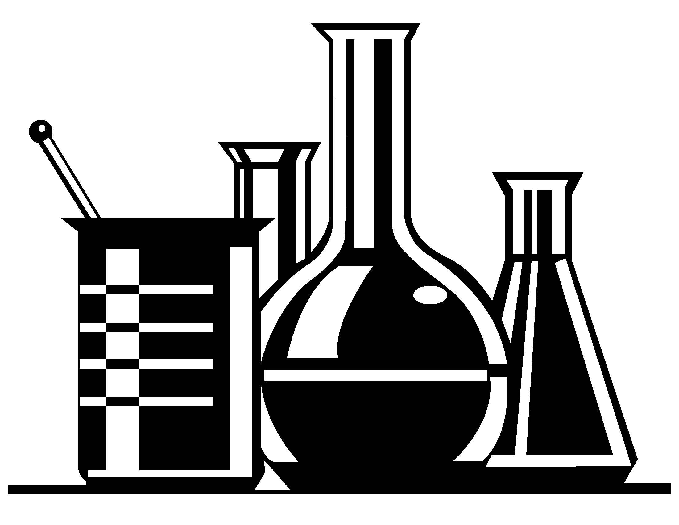 Beaker clipart black and white. Awesome science design digital