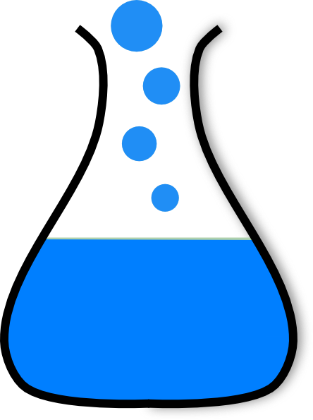 Chem blue clip art. Chemical clipart flask