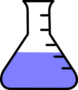 Pale flask clip art. Beaker clipart blue