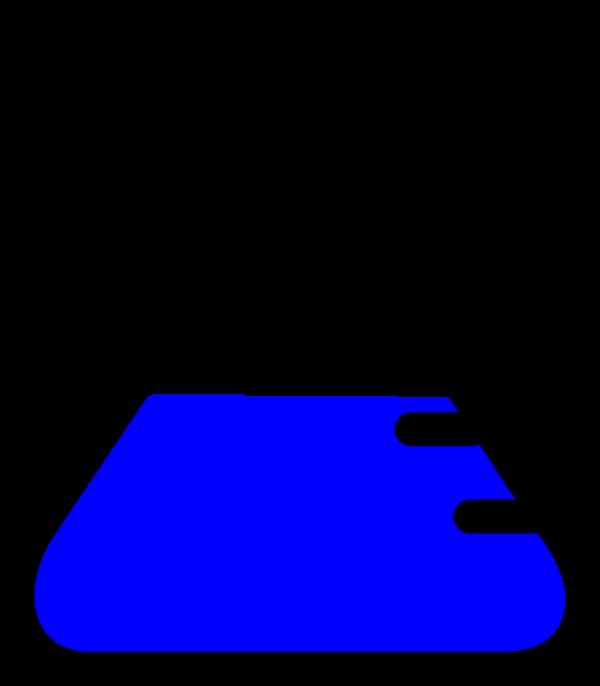 Top black free download. Beaker clipart blue