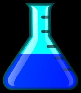 Beaker clipart blue. Flask clip art at