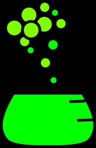 Beaker clipart bubble. Green flask clip art
